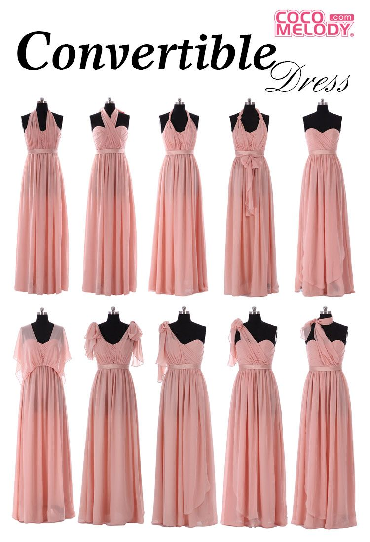 bridesmaid dresses that can be worn many ways