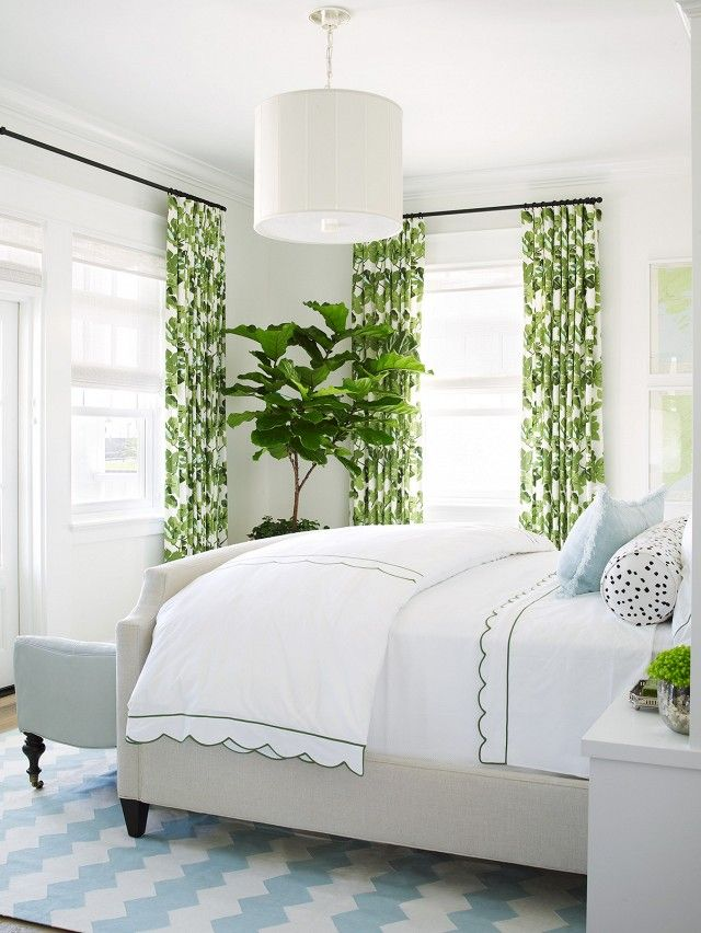 Beau The Palm Printed Curtains Pick Up The Optic White Beddingu0027s Spring Green  Piping For The Perfect Preppy Color Story. Are You Feeling These Preppy  Spaces?