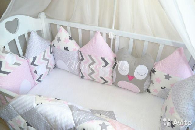 Бортики домики в кроватку для новорожденных своими