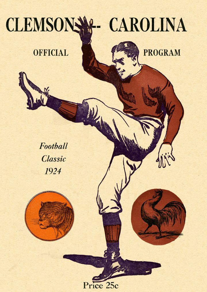 1924 South Carolina Gamecocks vs Clemson Tigers36 x 48