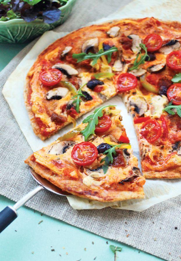 """Pizza Vegana do livro """"Cozinha Vegana para o dia a dia"""