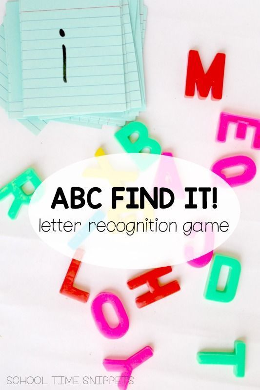 Find It Preschool Alphabet Game  Letter Recognition Games