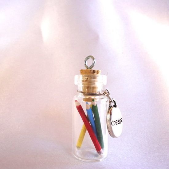 Creativity in a bottle necklace. $8