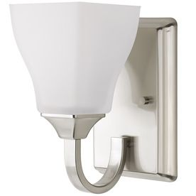 Delta olmsted 1 light brushed nickel square - 8 light bathroom fixture brushed nickel ...