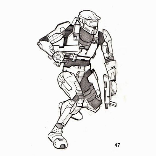 Halo 4 Coloring Pages To Print