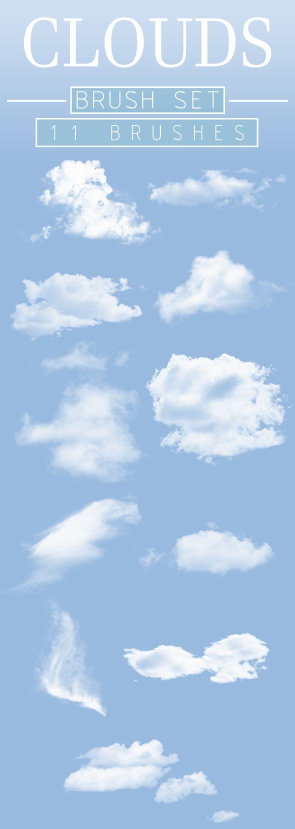 Clouds Brush Set Photoshop Brush Set Photoshop Actions Beginner Photo Editing