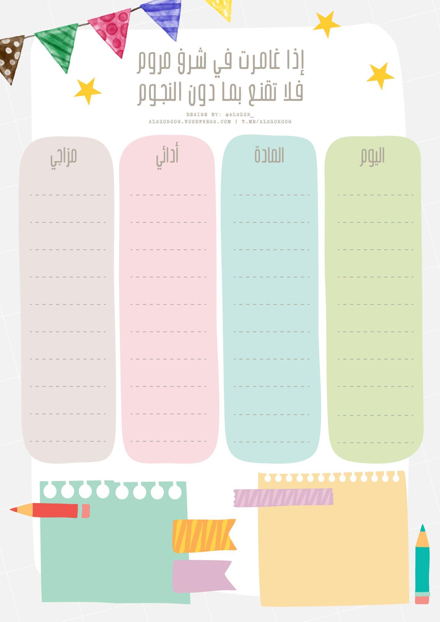 جدول اختبارات بعبارة م حف زة Pie Chart Chart Diagram