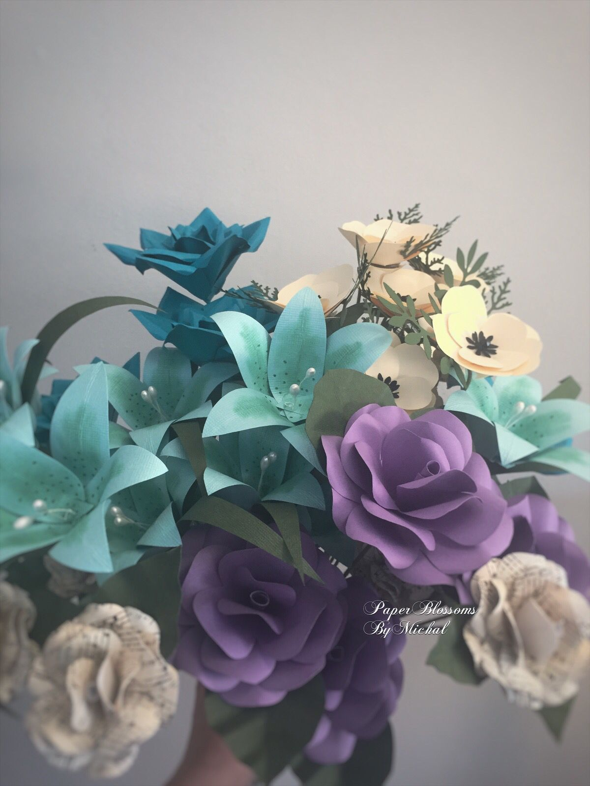All Made From Paper Flowers Wedding Flowers Blossom
