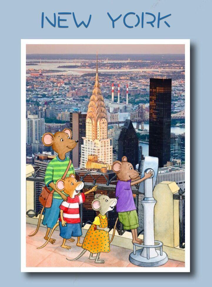Ratóncitos en un mirador de new York