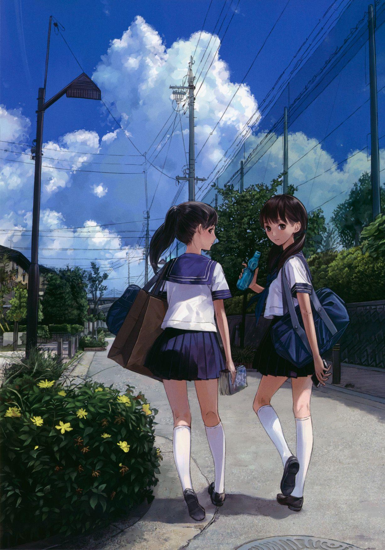 Pin by chen on illustration Anime school girl, Anime art