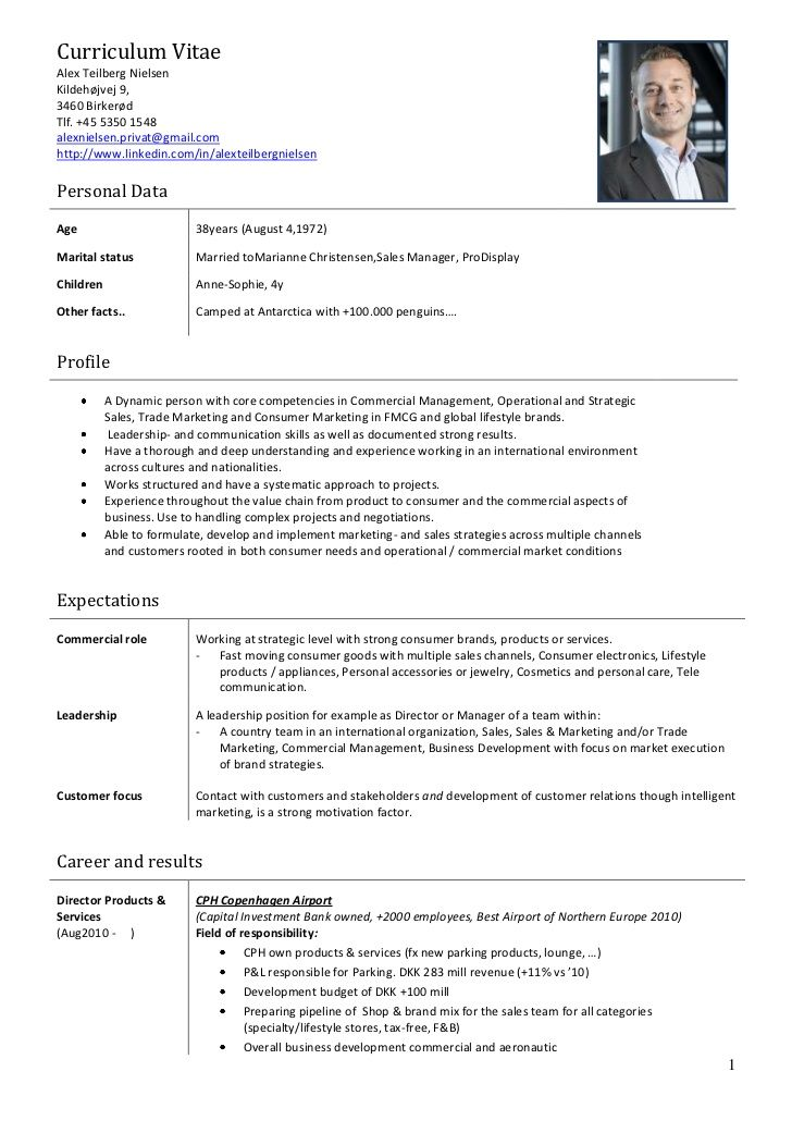 exemple cv account manager
