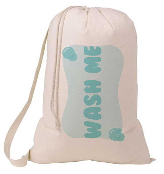 Wash Me Bubble Laundry Bag Humorous Laundry Bag College Hamper