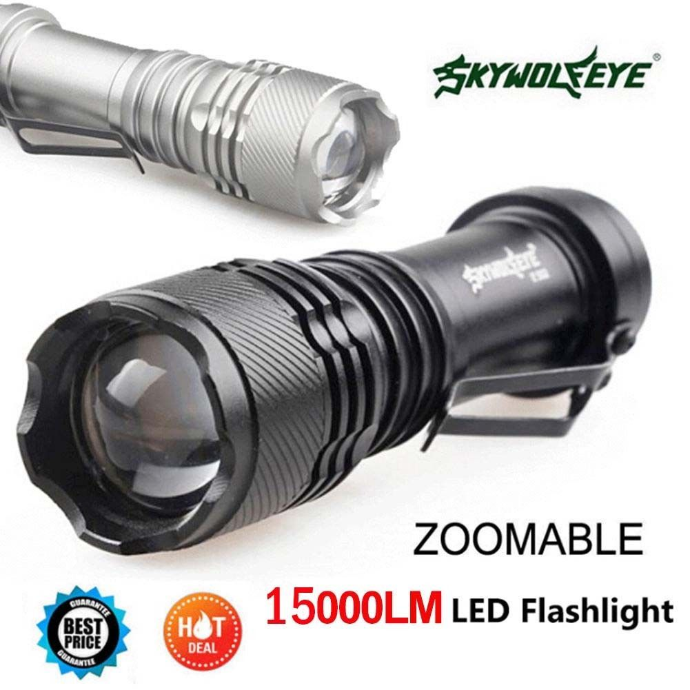 15000lm Q5 LED Cycling Bike Bicycle Head Light Flashlight Mini Torch Mount Clip