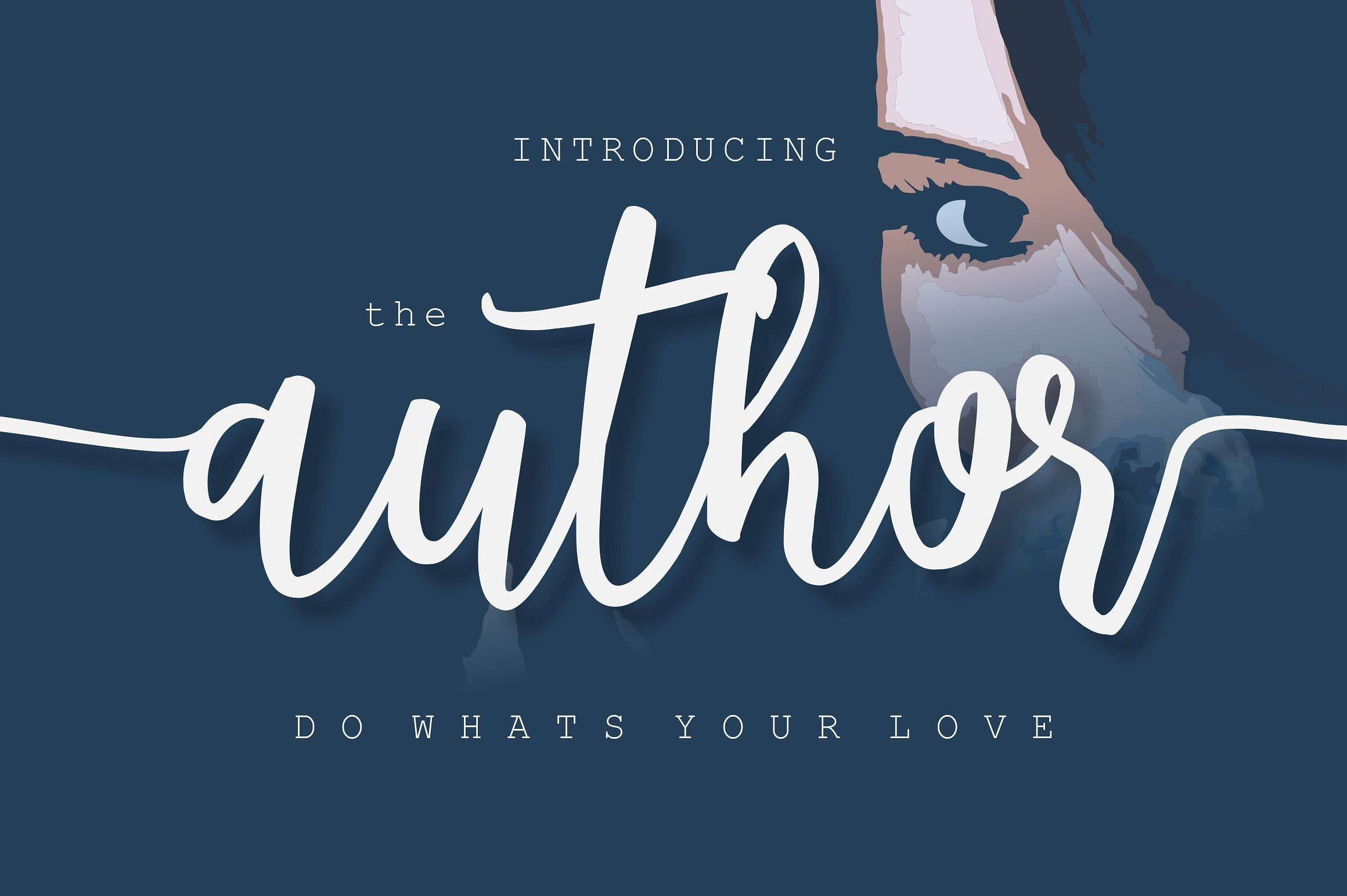 The Author (Font) by BonjourType (Dengan gambar)
