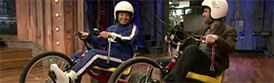 Two of our High Roller Adult Size big wheel trike model Mark 1s were featured on Late Night with Jimmy Fallon! NASCAR star Jimmie Johnson was challenged to a studio race by host Jimmy Fallon...