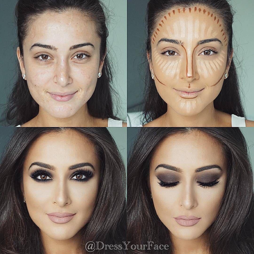 Maquillaje para adelgazar rostro redondo