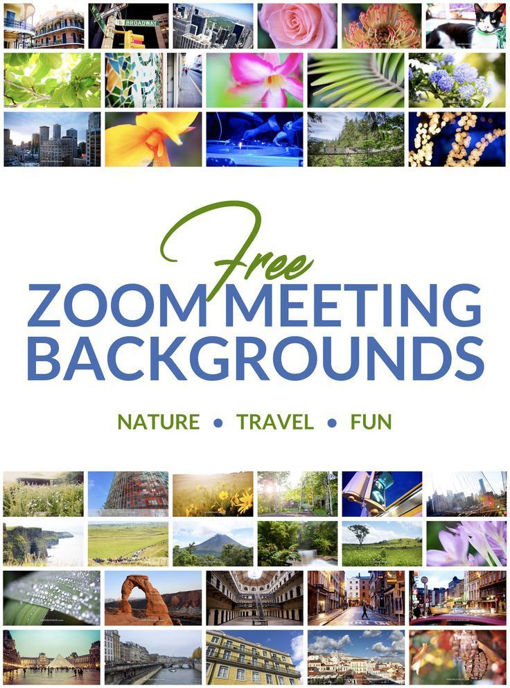 Virtually Escape with Zoom Backgrounds Free Downloads