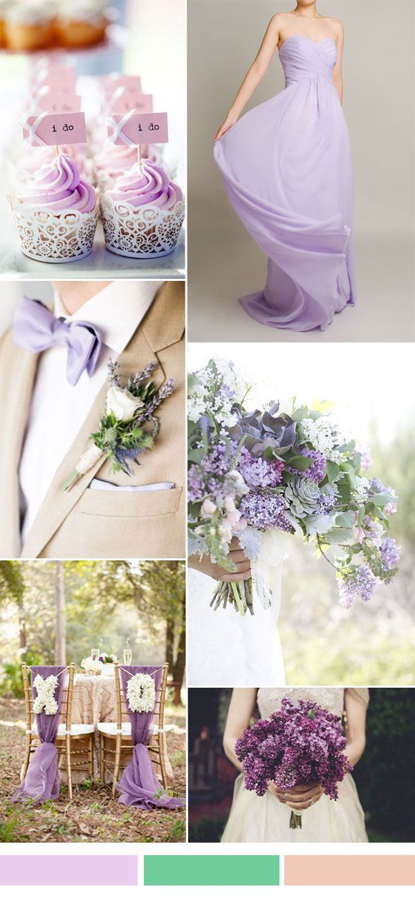 lilac light purple wedding color ideas for spring summer wedding