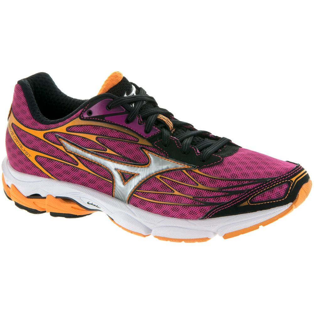 Mizuno Wave Catalyst: Mizuno Women's Running Shoes Fuchsia Purple/Silver/Blazing  Orange Mizuno