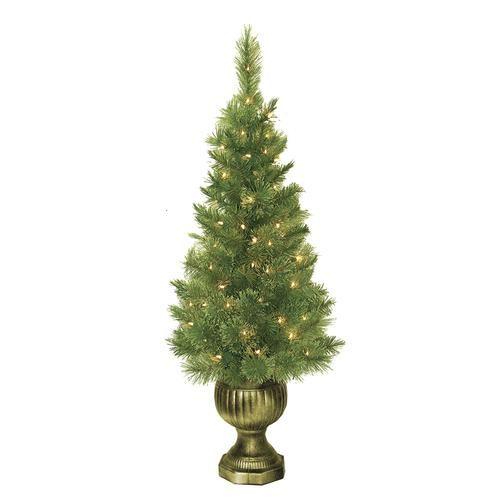 Enchanted Forest 4 Prelit Sheridan Porch Pot At Menards Christmas Tree Sale Cool Christmas Trees Christmas Tree