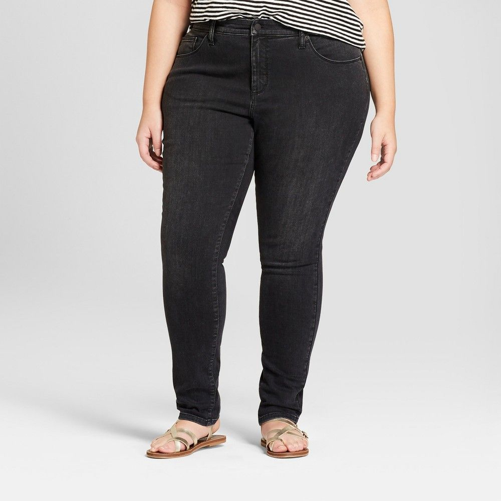 4baba5700bc61a Women's Plus Size Curvy Skinny Jeans - Universal Thread™ Black 14W ...