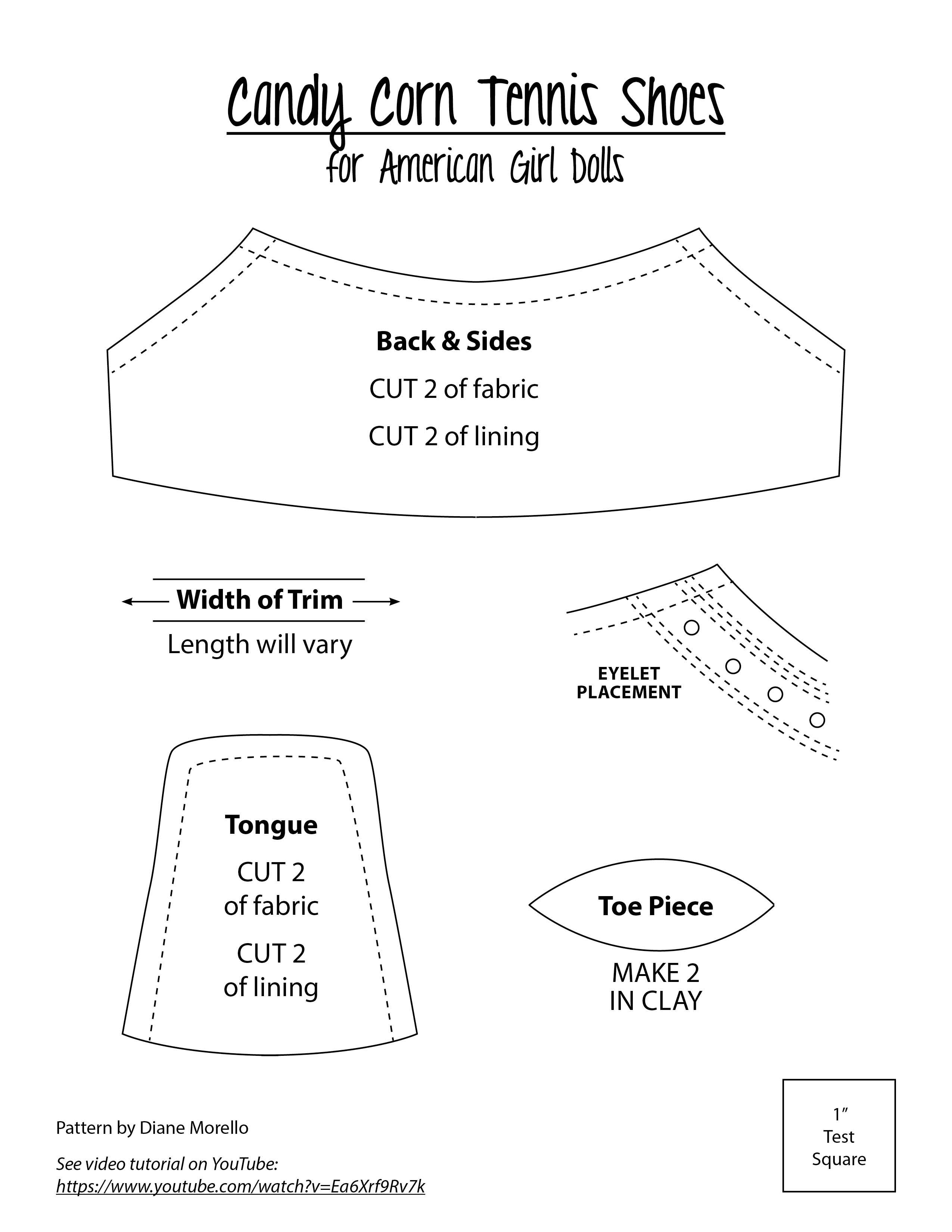 1d20538026432d Tennis shoe pattern designed for clay soles. Tennis shoe pattern designed  for clay soles. American Girl Doll Shoes