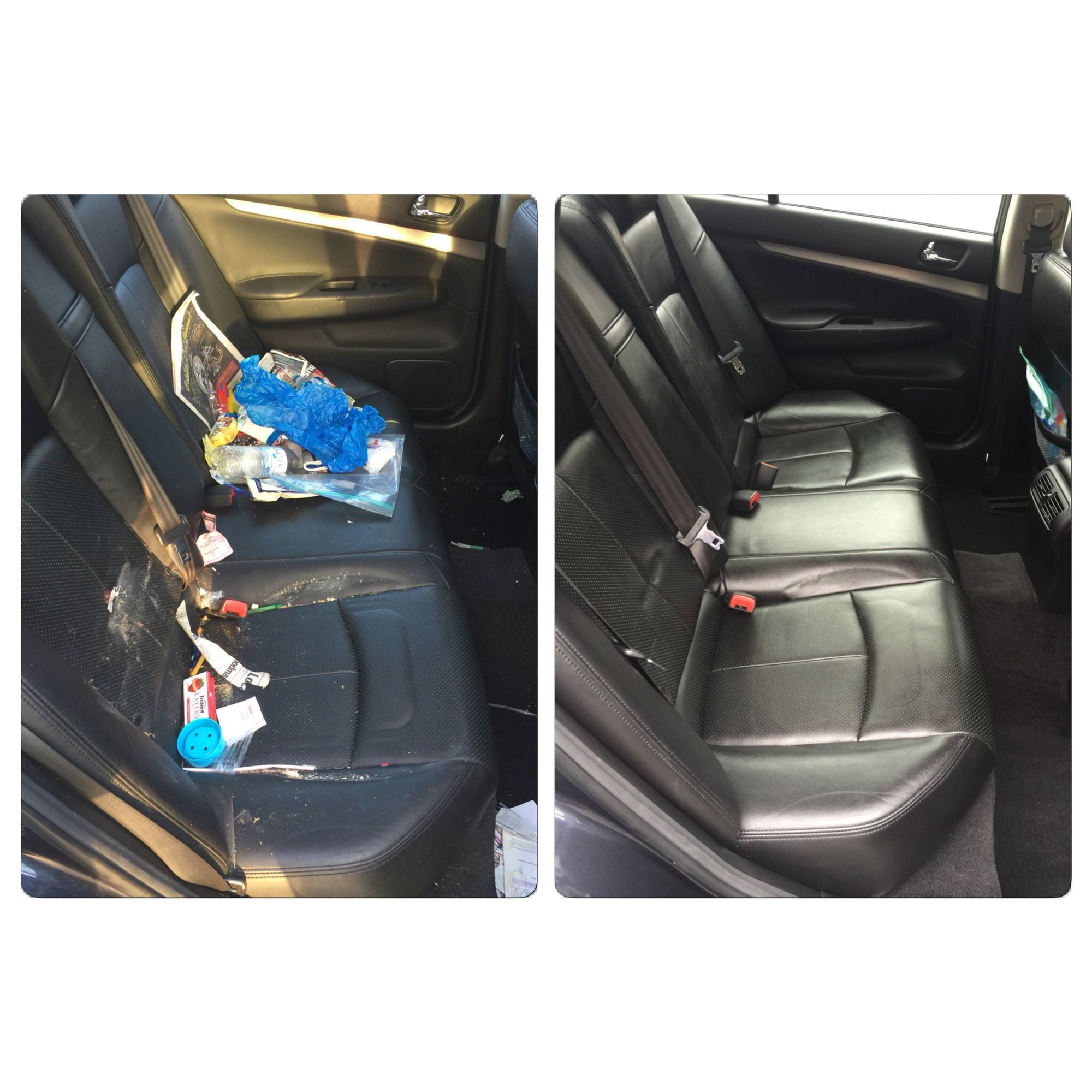 2013 Infiniti In For An Interior Detail Before And After Photo
