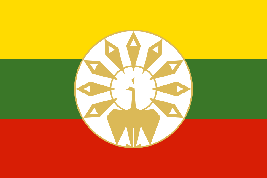 Flag Of The State Of Burma Stylized Version Flag Of Myanmar Wikipedia Myanmar Flag Flag Flags Of The World