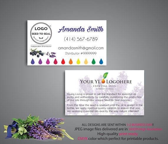 Essential oils yl business card custom yl business card young essential oils yl business card custom yl business card colourmoves