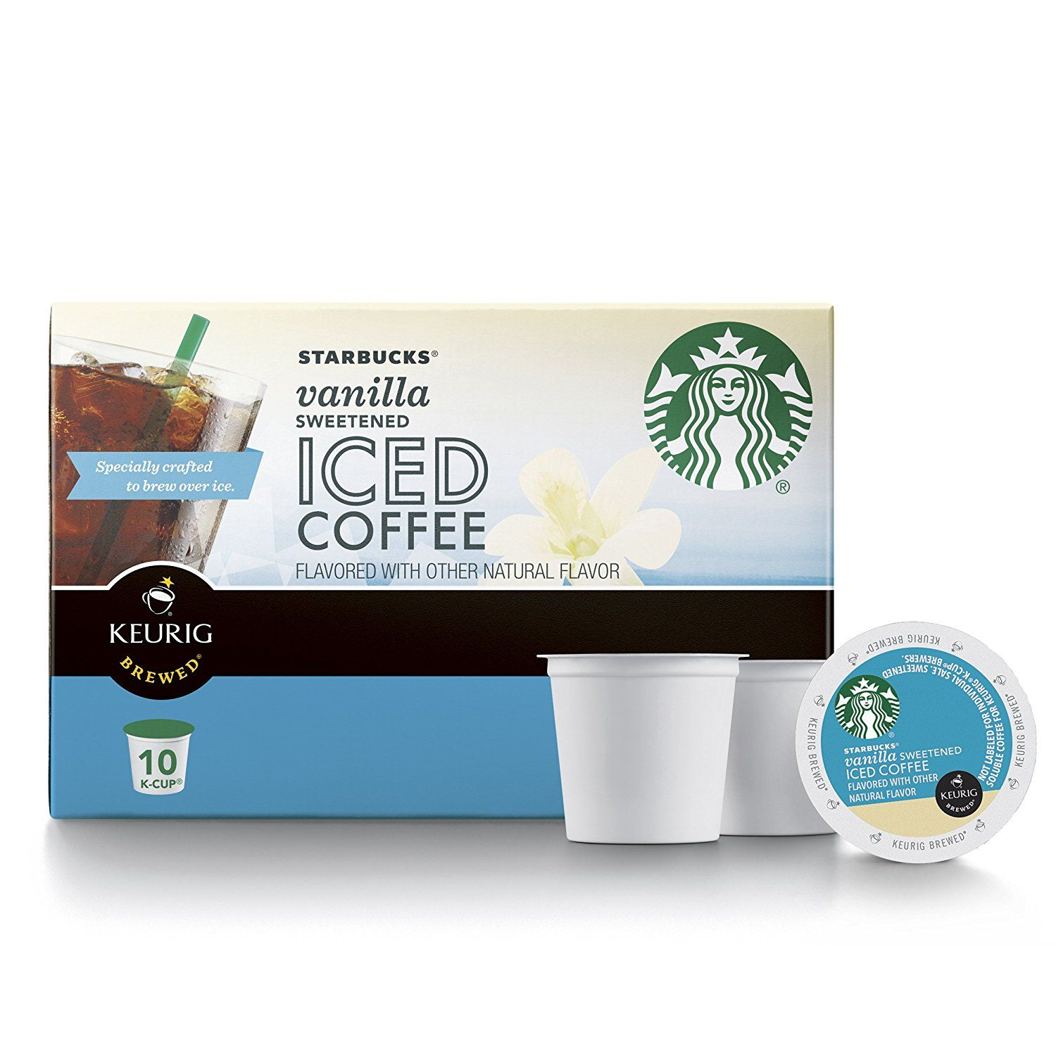 Starbucks Sweetened Vanilla Iced Coffee K Cup For Keurig