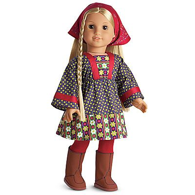 American Girl Julie Albright Christmas Outfit Gold Metallic Tights Only for Doll