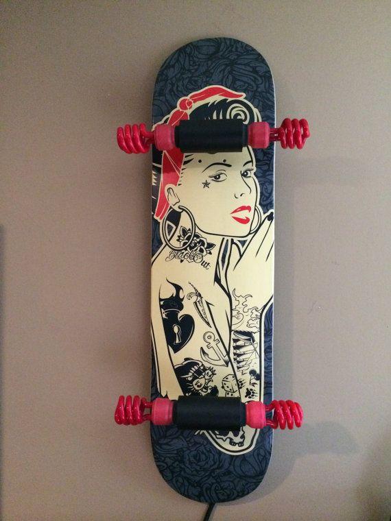 Handmade custom skateboard light by MadeByMean on Etsy, $150.00