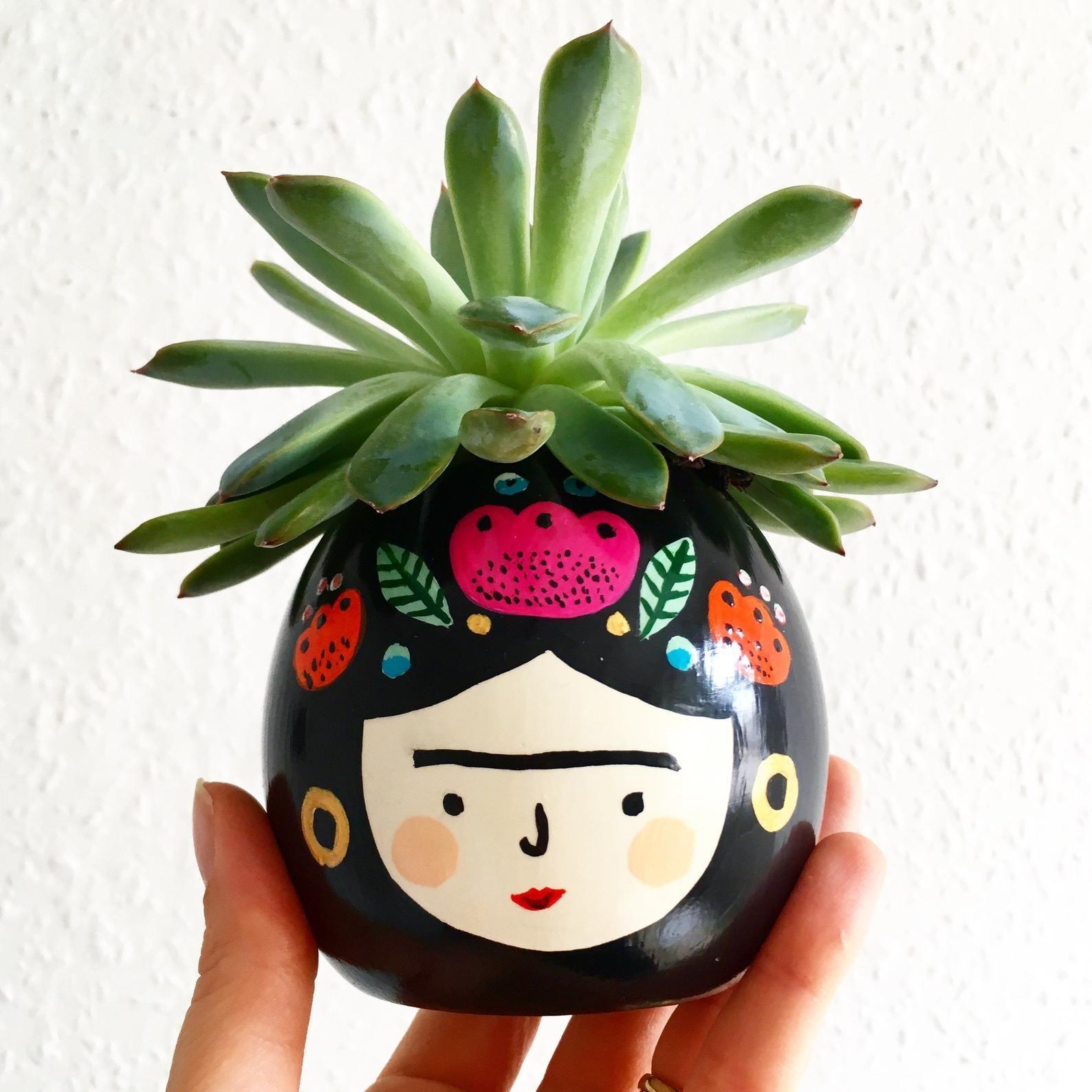 Photo of Frida Kahlo Planter Succulent Planter Teachers Gift