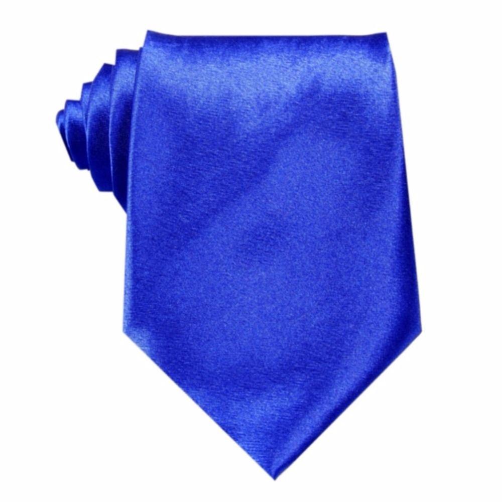 New Royal Blue Wedding Groom Party Necktie Silk Solid