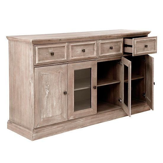 Archer Wash Oak Buffet Dining Room Furniture Home Decor