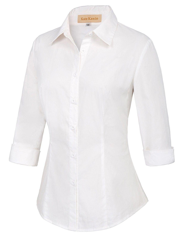 white shirt 3/4 sleeve