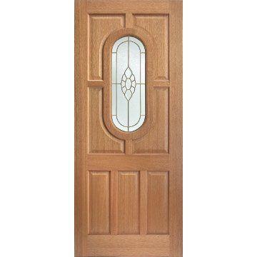 Image Of Acacia Bevelled Cluster Toughened Double Glazing Wooden Panel Doors Glass Panel Door Glazed External Doors