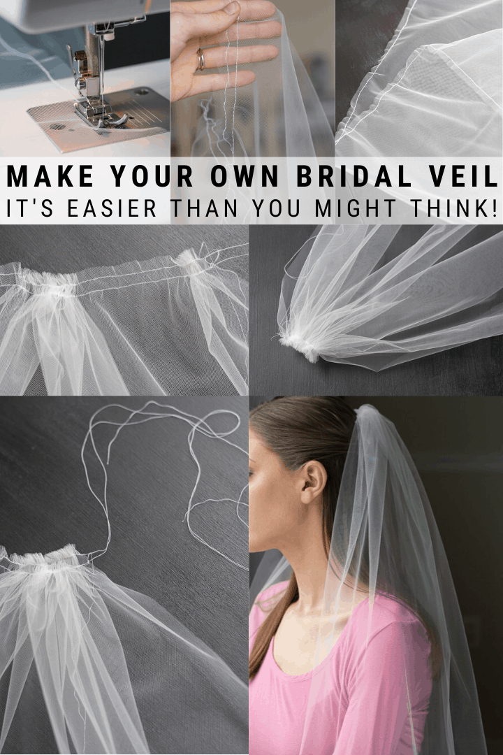 How To Make A Bridal Veil With A Comb How To Make A Simple Bridal Veil In 2020 Veils Bridal Diy Diy Wedding Veil Bridal Shower Veil