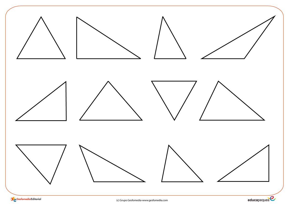 Formas y figuras geométricas: El triángulo | Figuras geometricas ...