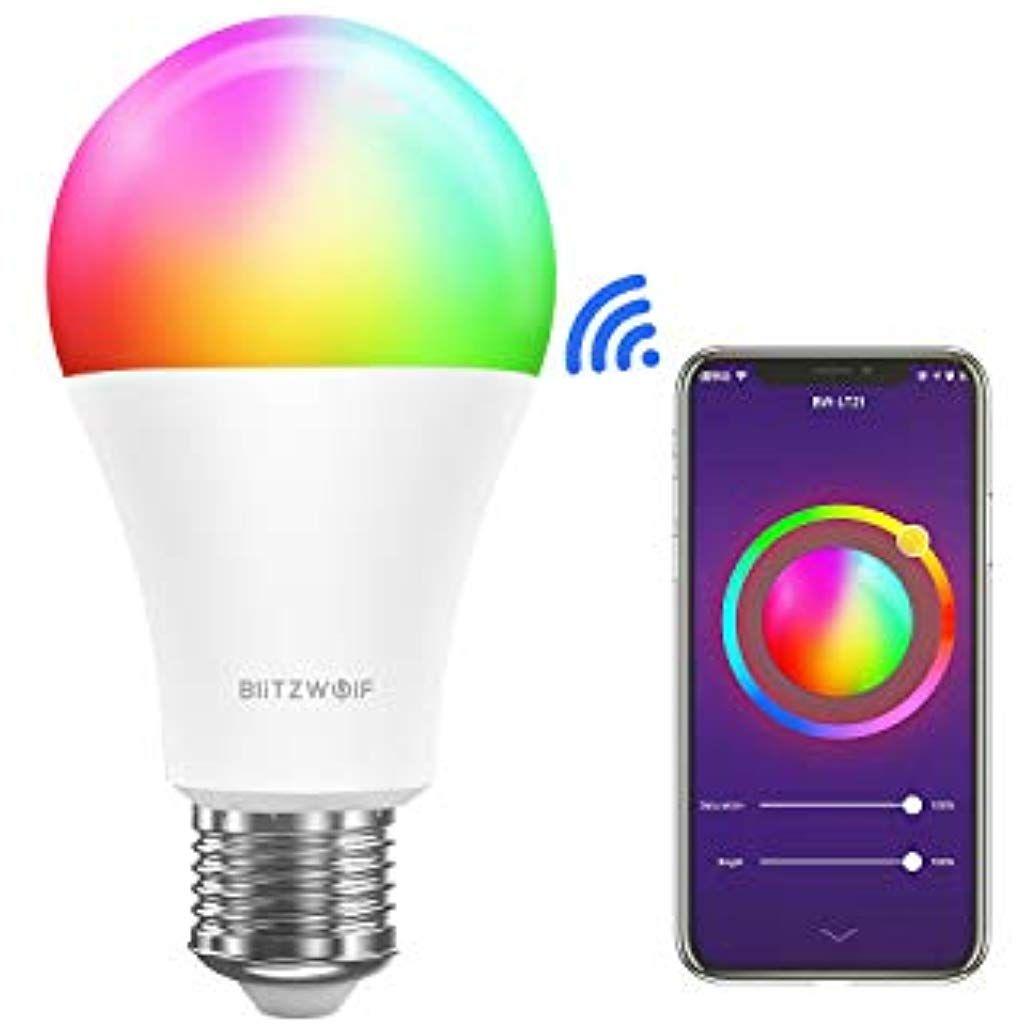 Smart Gluhbirne Blitzwolf 900lm Wlan Smart Led Lampe Rgb Farbwechsel Birne 10w E27 Dimmbar Kompatibel Mit Alexa Google Assistant Ohne H Led Lampe Led Gluhbirne