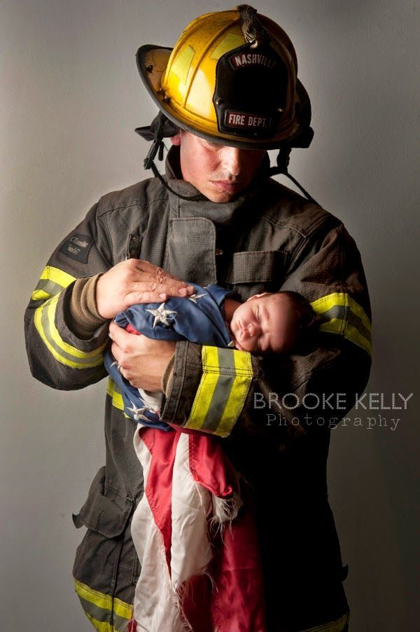 Firefighter newborn photography brooke kelly photography
