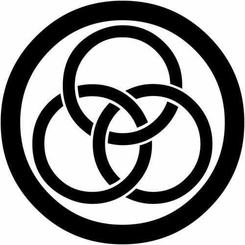 丸に三つ輪違い まるにみつわちがい 家紋 ロゴブランディング 図鑑