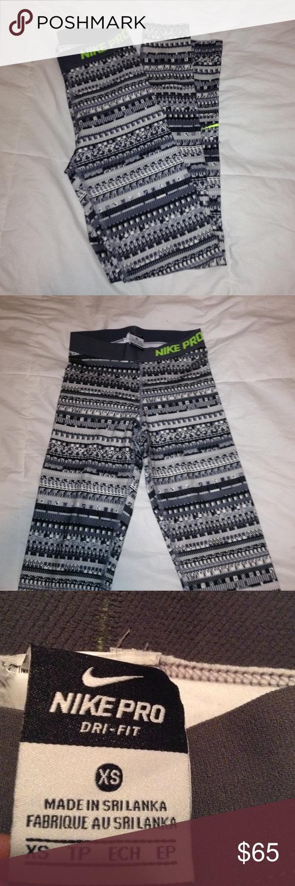 b04a99cc22b92 Tribal Nike Pro fleece lined leggings Tribal print Nike Pro fleece lined  leggings. New without tags! Nike Pants Leggings