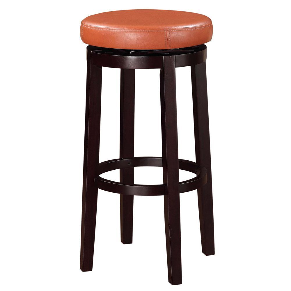 Linon Oh Home Dorothy Backless Bar Stool with Tuscany Swivel Seat