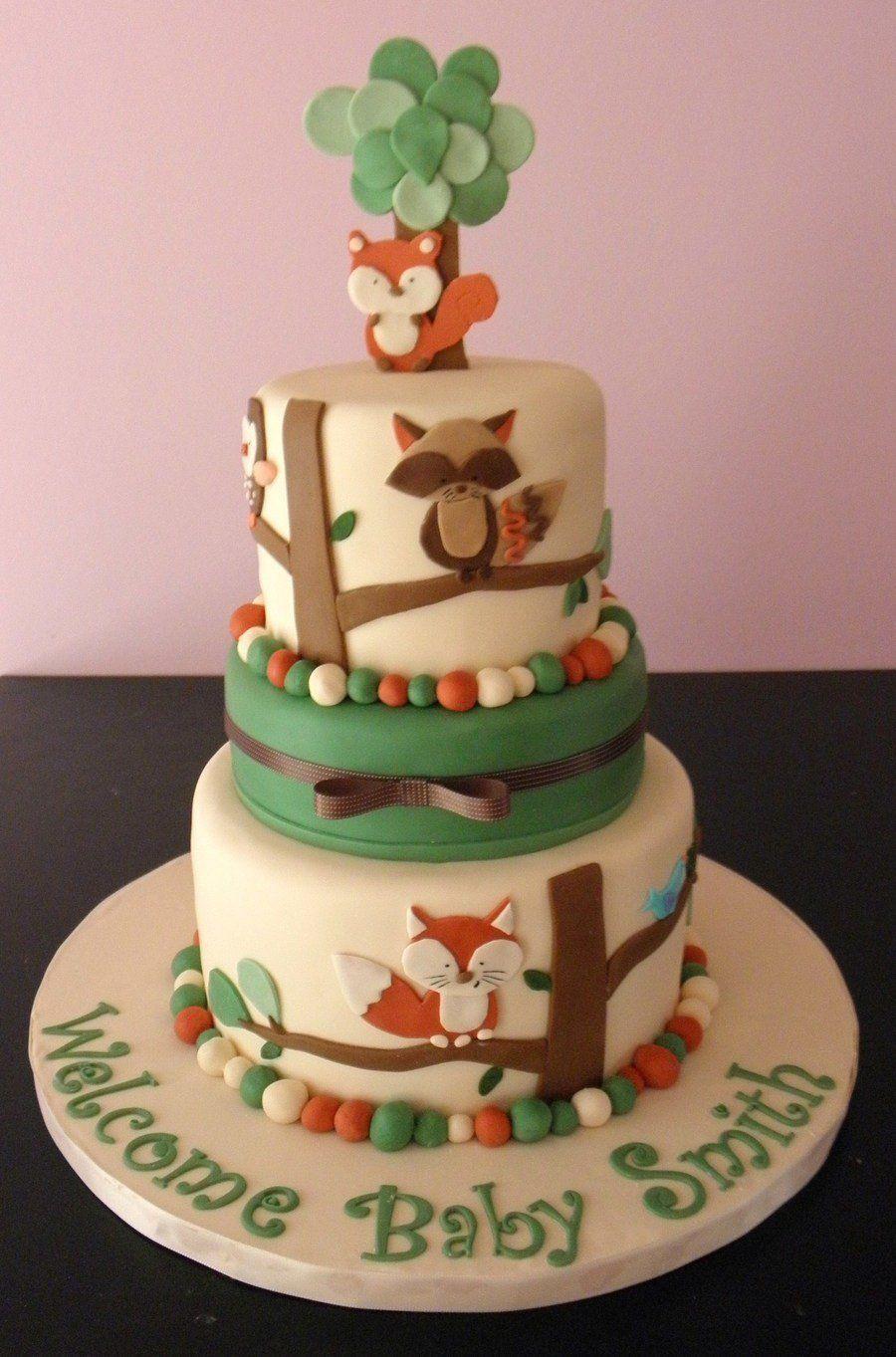 Tree Tops Nursery Bedding Shower On Cake Central Elliotts Baby