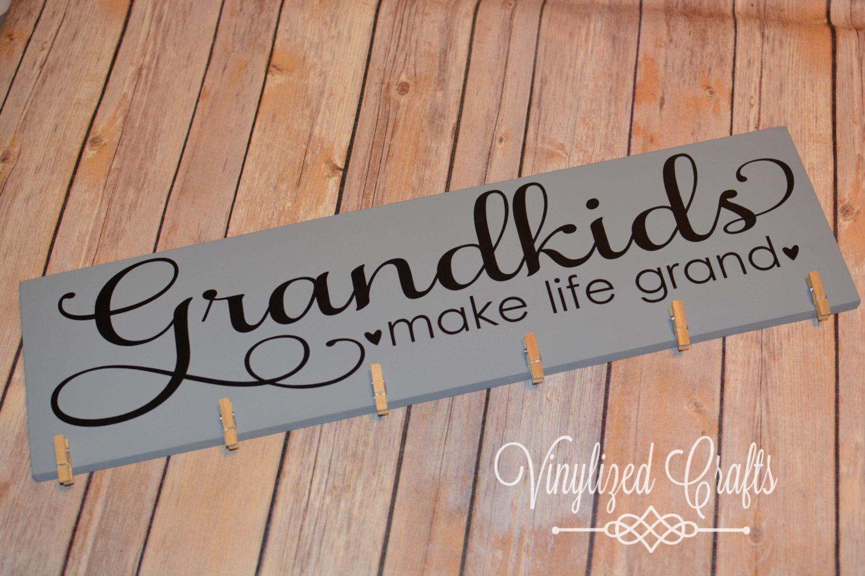 New Grandkids Make Life Grand Picture Holder Wooden
