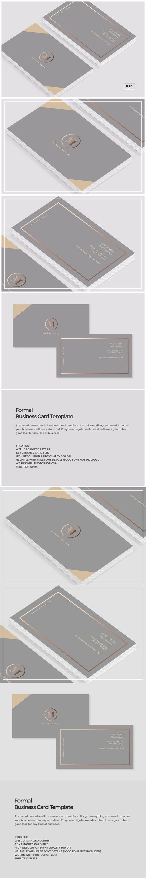 Formal Business Card Template | Business Card Templates ...