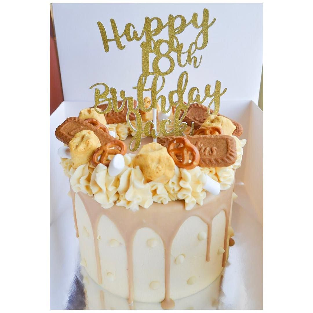 Tremendous V Bakes On Instagram Salted Caramel Biscoff Cake With Funny Birthday Cards Online Necthendildamsfinfo