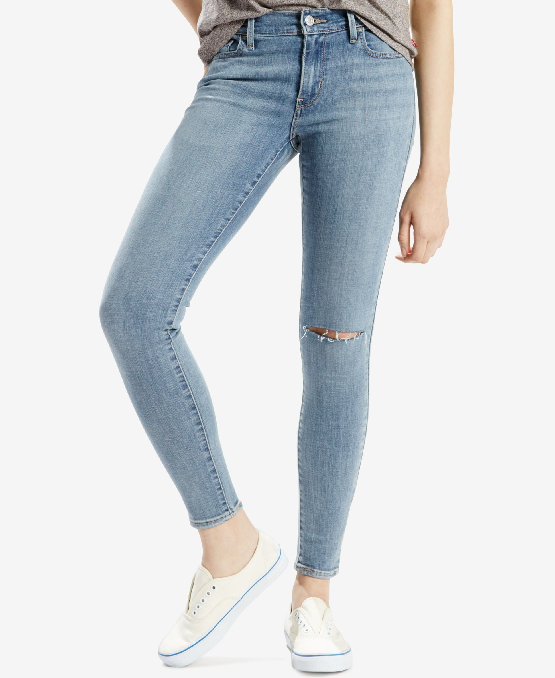9405c902a5 Levi's 710 Ripped Super Skinny Light Blue Wash Jeans | Products ...
