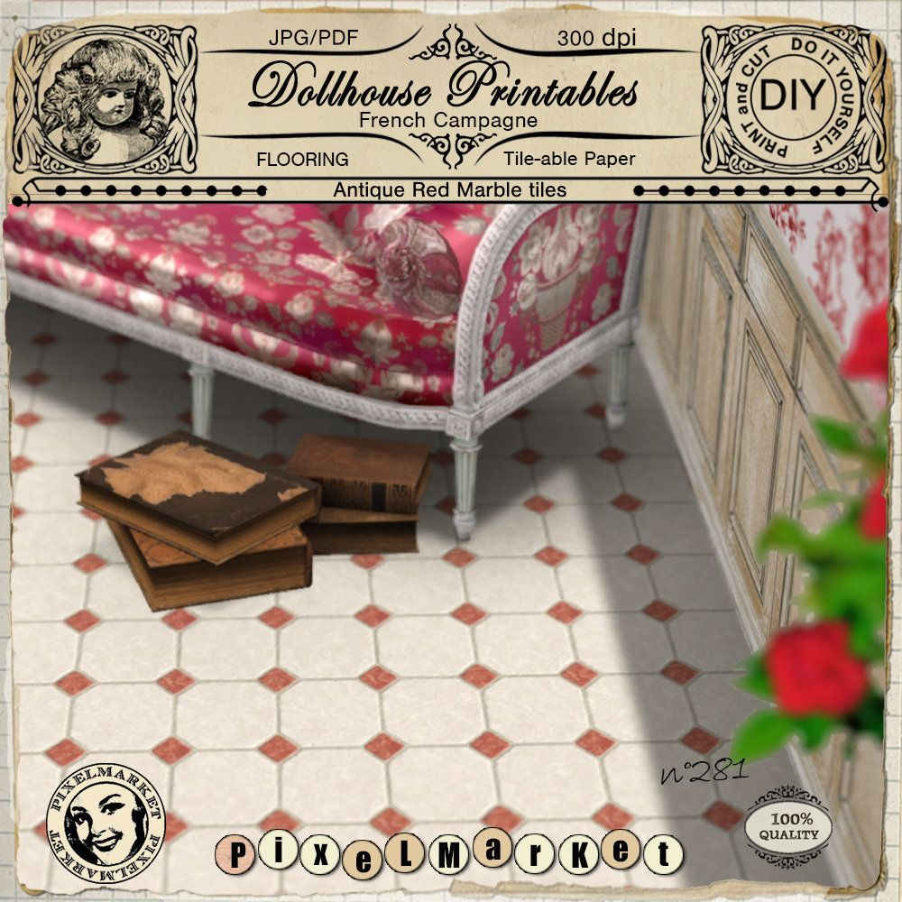 """Miniature Doll House Faux Marble Flooring Floor Cover 12""""x12"""" Sheets-Any Room"""